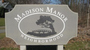 Madison Manor Sign